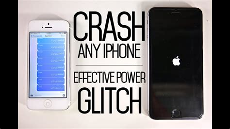 crash  iphone  text message glitch effective power bug fix youtube