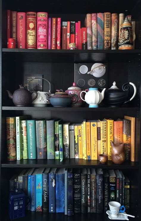 color coordinated bookshelf pin by mokona darcy on bookcase bookshop bookend more