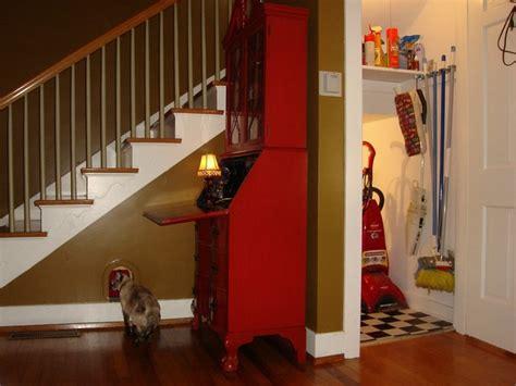 Secret Garden Door Wall Hidden Cat Retreat Traditional Staircase Louisville