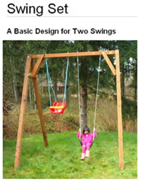 basic swing set plans 12 free swing set plans how to build a swingset