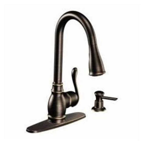 moen anabelle kitchen faucet moen anabelle mediterranean brushed bronze one handle high arc pulldown kitchen faucet reviews
