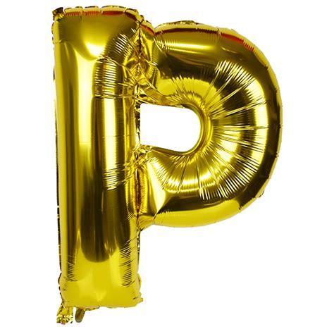 mylar letter balloons 30 quot foil mylar balloon gold letter p 1507