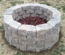 pit lava rock stones backyard pit built in three hours used 60 11 quot x4