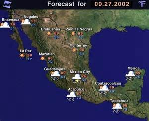Weather Map Mexico by Excite Weather