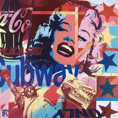 Collagen Sinensa raynal marilyn collage poster print