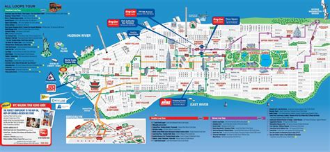 map of nyc with landmarks new york map tourist attractions