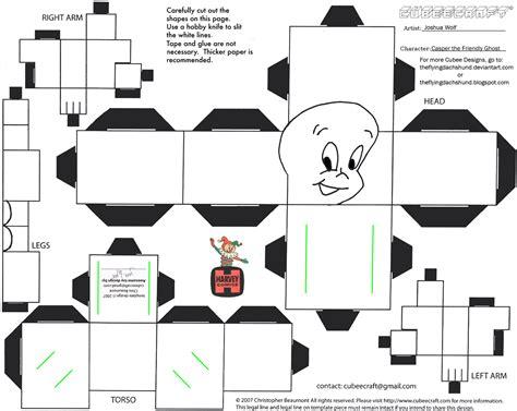 Papercraft Hello - harvey casper cubee by theflyingdachshund on deviantart