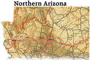 northern arizona map edu source grand from space