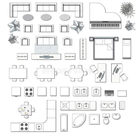 interior design elements icons stock vector art 165814827 icons set of interior stock vector illustration of desk