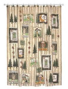 lodge outhouse rustic cabin shower curtain accessories