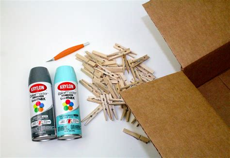 spray painting cardboard boxes instagram clothespin wreath with krylon a craft