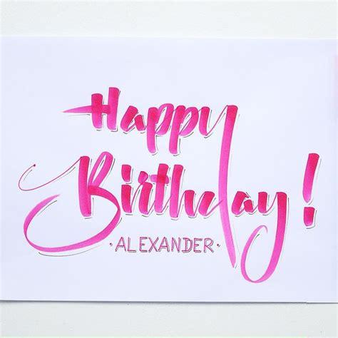 Happy Writing happy birthday in fancy writing www imgkid the