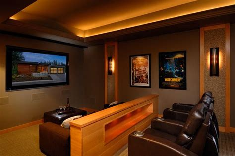 home theater design  simple elegant  stylish