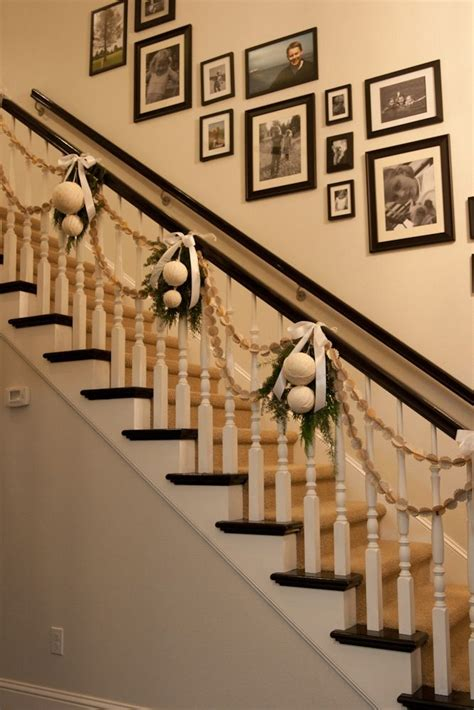 how to decorate banister simply and elegantly for christmas 25 best ideas about stairs decorations on decorations diy