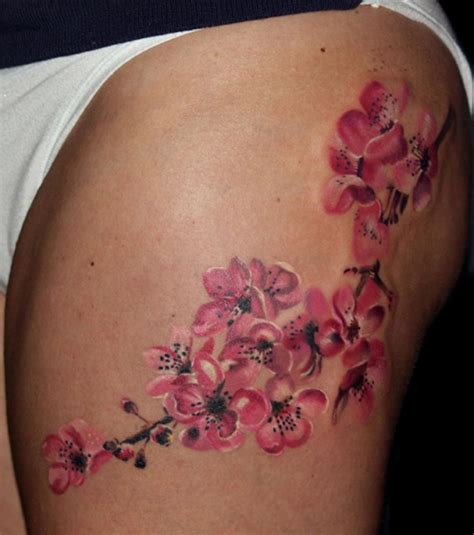cherry blossom side tattoo cherry blossom tattoos3d tattoos