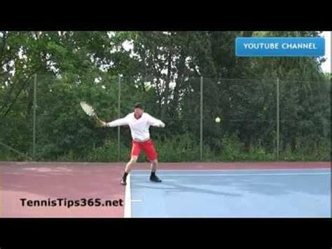 Forehand Tennis Lesson 2 The Swing Path Of The Forehand