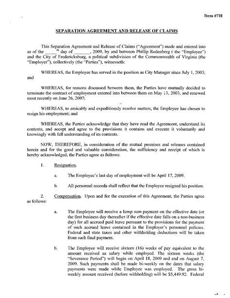 va separation agreement template best photos of virginia separation agreement form free