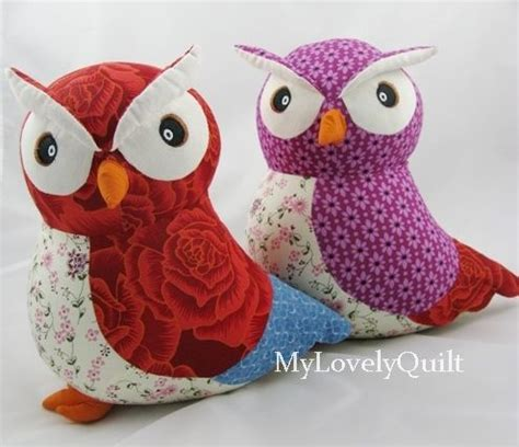 Patchwork Animals - patchwork stuffed animal decorative doll owl