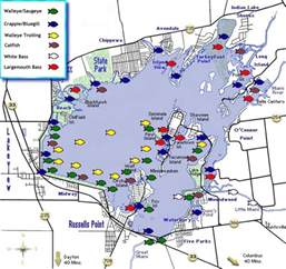Indian Lake Ohio Map by Indian Lake Fishing Map