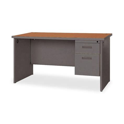 desk 48 inches wide lorell durable single pedestal desk 48 quot x 30 quot 2 x box