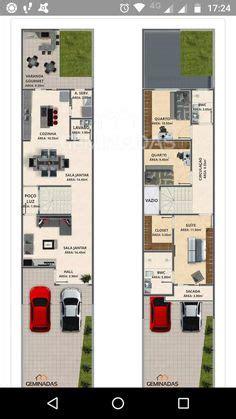 planos de casa pequena de dos pisos ideas  construir en lotes angostos planos casas