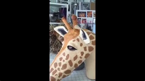 How To Make A Paper Mache Giraffe - how to make a giraffe mask out of paper mache