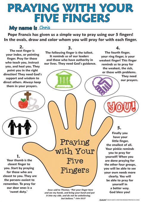 Five Finger Prayer Printable