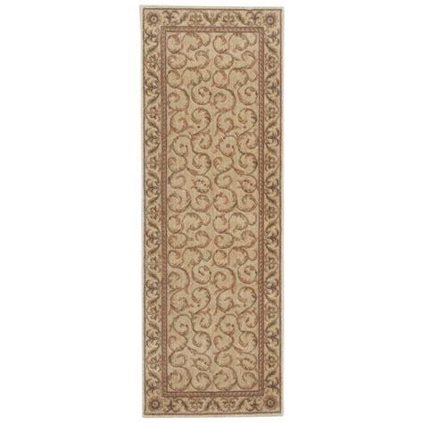 2 x 5 runner rugs nourison somerset ivory 2 ft x 5 ft 9 in rug runner 823298 the home depot