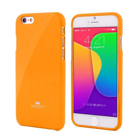 Casecasing Hp Iphone 55sse66s677 High Quality Jelly apple iphone 6 4 7 quot premium jelly orange by goospery