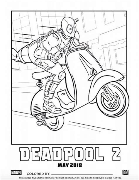 deadpool coloring book free printable deadpool coloring pages