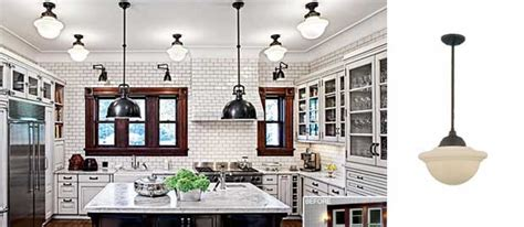 victorian kitchen lighting chicago kitchen features deep bowl schoolhouse pendants