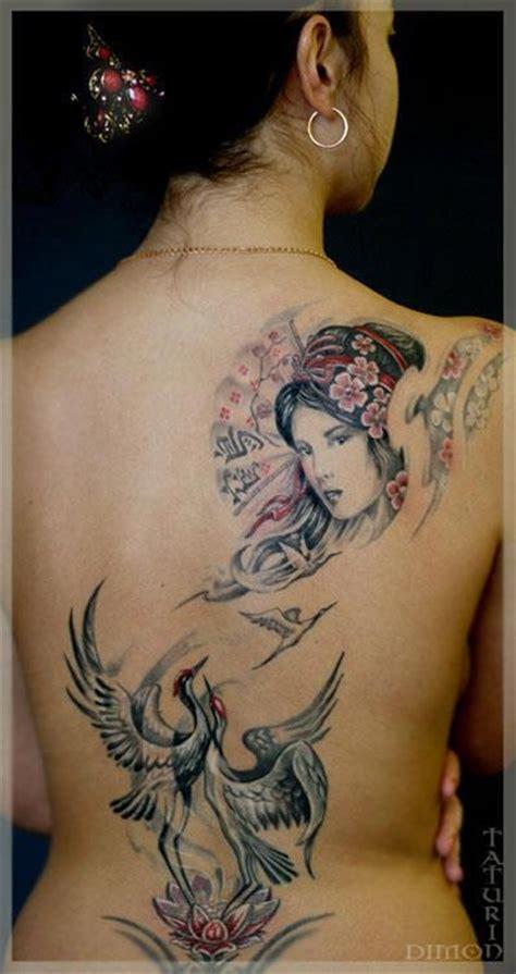 geisha tattoo vrouw rug kunst bij vrouwen tattoo platform