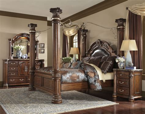 Raymour And Flanigan Discontinued Dining Room Sets by Michael Amini Aico Monte Carlo Ii Queen Canopy Bed