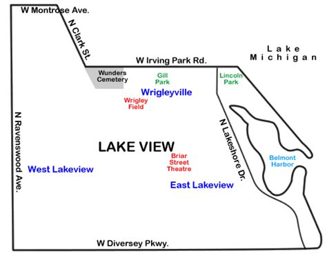 chicago map lakeview talk lake view chicago