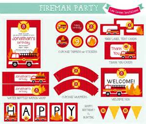 fireman party printable leo loves invitations