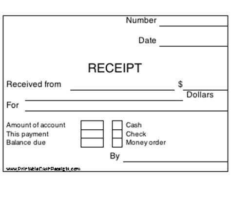 new printable receipts