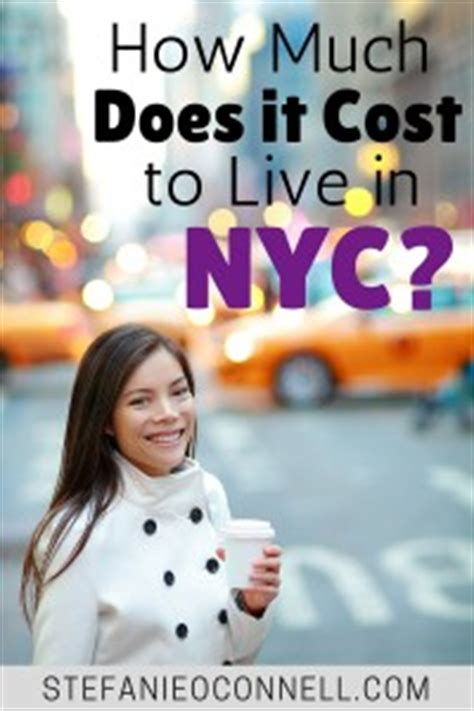 how much does it cost to live comfortably how much do you need to live in new york city