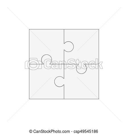 2x2 Lined Card Template Portraits by Jigsaw Puzzle Blank Vector 2x2 Four Pieces Jigsaw Puzzle