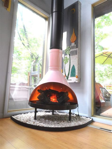 Retro Cone Fireplace retro mid century mod pink black preway small