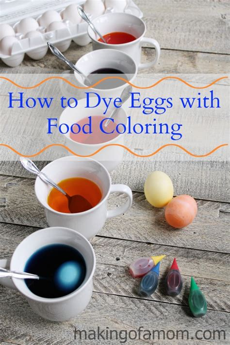 easter egg dye with food coloring how to dye easter eggs with food coloring