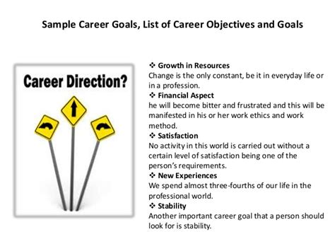 Best Career Goal Exles by List Of Career Objectives 28 Images Resume Objectives