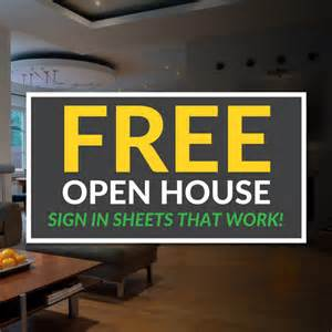 realtor open house sign in sheet template open house sign in sheet templates free printable