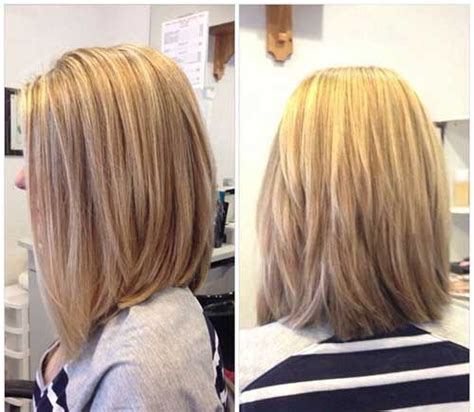 long bob angled hairstyles graduated layers 27 beautiful long bob hairstyles shoulder length hair