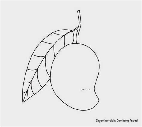 Mangga Hitam Putih belajar mewarnai gambar buah mangga belajar menggambar