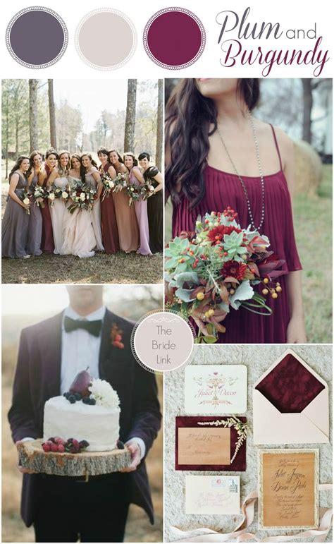 plum wedding colors plum and burgundy fall wedding colors inspirational