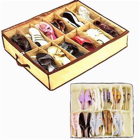 4x shoe organizer closet under bed storage as on tv ebay 2016 high quality 12 cases shoes storage organizer shoes