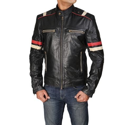 Motorrad Lederjacke Cafe Racer by Cafe Racer Retro Moto Men S Biker Vintage Distressed