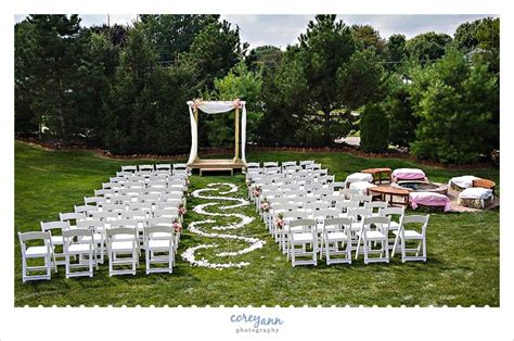 how to set up a backyard wedding massillon backyard wedding with angela and kevin corey