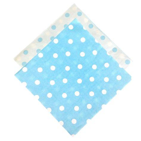 Polka Blue Bergo Busui Ay paper napkins 6 5 quot 20pcs polka dot baby blue