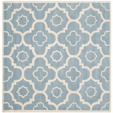 5 ft square rug safavieh chatham blue ivory 5 ft x 5 ft square area rug cht750b 5sq the home depot